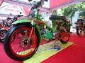 Modifikasi Honda C70 Kontes Mesin Satria FU Racing Look Full Airbrush