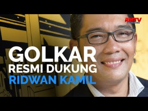 Golkar Resmi Dukung Ridwan Kamil