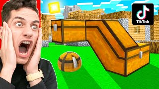 I Tested 10 VIRAL TIKTOK MINECRAFT HACKS To See If They WORK!