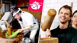 We Tried To Make Mochi With Giant Hammers • Eating Your Feed • Tasty by Tasty