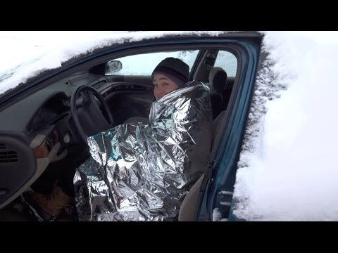 Reflective Emergency Blanket. Avoid dying in the Polar Vortex. Warmth in super bone chilling cold!