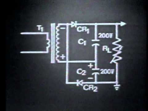 Doubler - Department of Defense - Description: EXPLAINS THE THEORY OF OPERATION OF A VOLTAGE DOUBLER. TRACES CHARGE AND DISCHARGE PATHS FOR THE CAPACITORS. DETERMINES ...