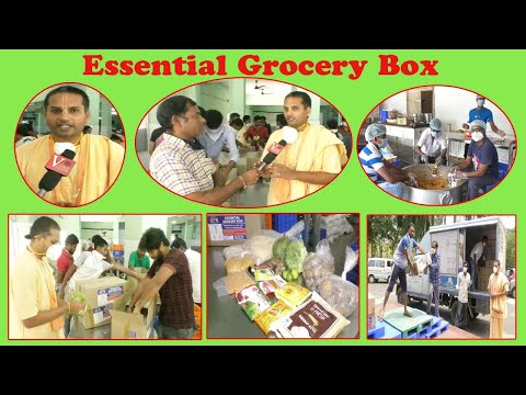 The Akshaya Patra Foundation Face to Face Distribution Essential Grocery Box  in Visakhapatnam,Vizagvision..