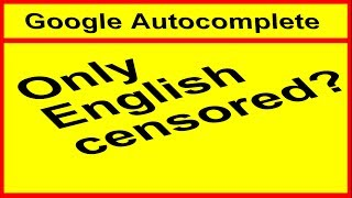 The autocomplete function of google search is censored, or at least not working, when writing English, but not for other languages as for example German or French. I do not why this is happening with the google search autocomplete. Maybe it s just me?! Or is English language in the google autocomplete function more restricted because more people complained about it?Anyway, have fun with this video about the google autocomplete function and it s unknown inner works of fullfilling your autofill wishes.