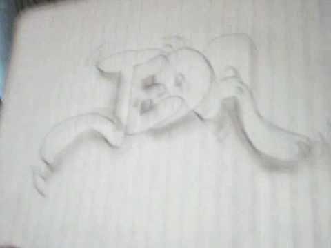 Graffitis en 3D a lapiz faciles - Imagui
