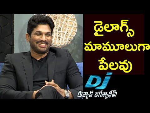 Video Allu Arjun About DJ Movie Dialogues     Duvvada Jagannadham Interview - Pooja Hegde download in MP3, 3GP, MP4, WEBM, AVI, FLV January 2017