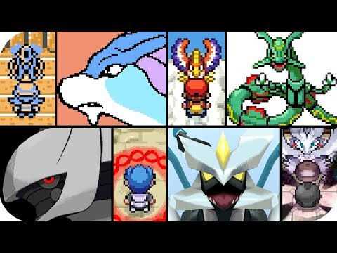Pokémon 2D Games  - Every Legendary Cutscenes Animations (1080p60)
