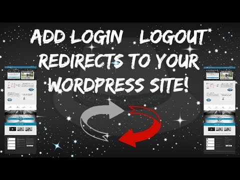 Add Login | logout Redirects To Your WordPress Site.
