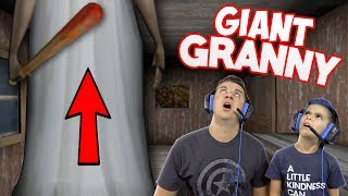 OMG GRANNY IS A GIANT!! Escape The Giant Granny's House!!