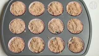 Muffins de arándanos con canela