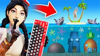 UNDERWATER Gun Game For *RANDOM* KEYBINDS in Fortnite