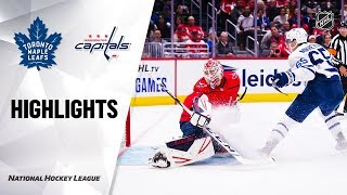 Maple Leafs @ Capitals 10/16/19 Highlights by NHL