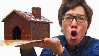 チョコの家作ってみた!