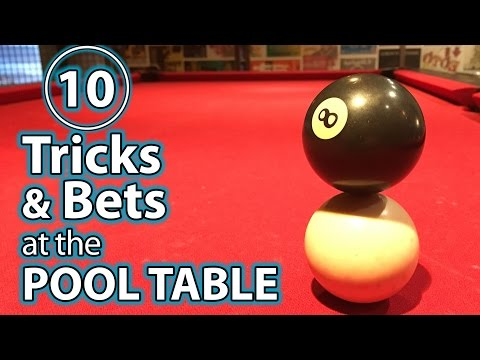 10 Best Trick Shots, Bets & Pranks at the POOL TABLE! (видео)