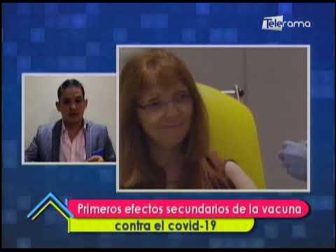 Primeros efectos secundarios de la vacuna contra el covid-19