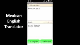 Mexican English Translator YouTube video