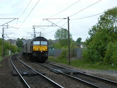 WCR 47237 & 47854 working 5Z51 0941 Bo'ness to Carnforth ...