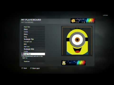Black Ops: Depicable Me Minion Emblem Tutorial
