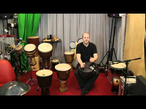 Beginner hand drum lesson #1 with a Remo djembe