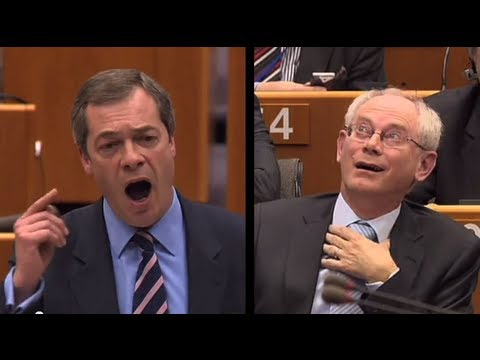 EUX.TV - MEP and UKIP leader Nigel Farage on Wednesday delivered another major tirade against EU President Herman van Rompuy and, along the way, severely insulted Bel...