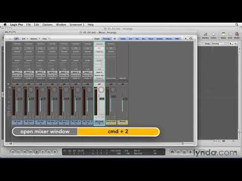 Logic Pro: How to record several tracks at once | lynda.com tutorial