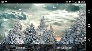 Snowfall Free Live Wallpaper YouTube video
