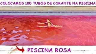 Video COLOCAMOS 100 TUBOS DE CORANTE ROSA NA PISCINA E OLHA O QUE ACONTECEU MP3, 3GP, MP4, WEBM, AVI, FLV Mei 2019