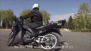 8. Taking the Kawasaki GTR 1400 (Concours 14) in hand on a sunny sunday morning. Low speed maneuvers.