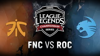 Video FNC vs. ROC - Week 8 Day 1 | EU LCS Spring Split |  Fnatic vs. Team Roccat (2018) MP3, 3GP, MP4, WEBM, AVI, FLV Juni 2018