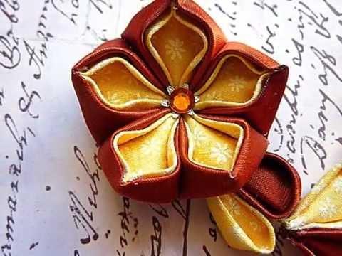 MyCraftLoft Kanzashi Fabric Flowers