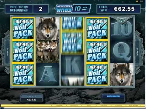 Untamed Wolf Pack Slot -  Freespin Feature Mega Big Win