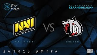 Natus Vincere vs Comanche, Kiev Major Quals СНГ  [V1lat]