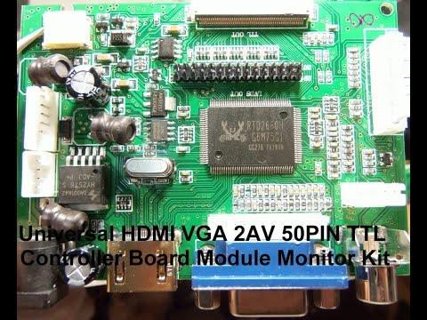 HDMI+VGA+2AV LCD display driver board куплен в магазине Banggood.com