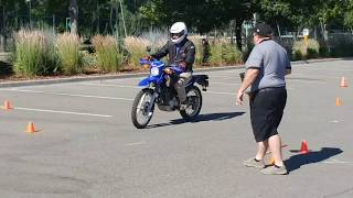 6. Skills test in Penticton BC on a Yamaha xt250 in 2017