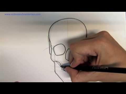 Wie zeichnet man einen Totenkopf – Online zeichnen lernen