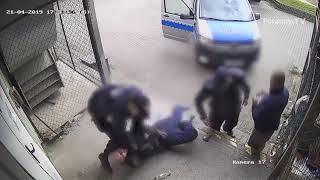 Brutalna interwencja białostockich policjantów !!!