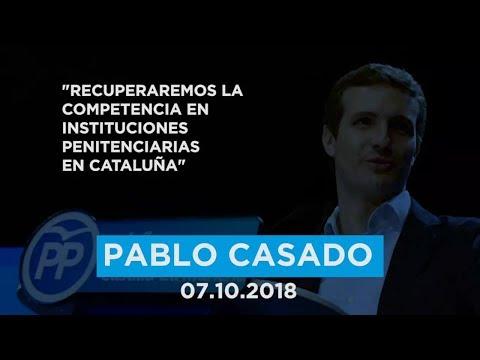 """Casado: """"Habrá un 155 que recuperará la competencia en instituciones penitenciarias en Cataluña"""""""