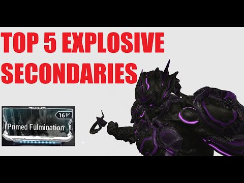 [WARFRAME] Top 5 AOE Secondaries! + Bonus Primed Fulmination l Warframe Deimos Arcana