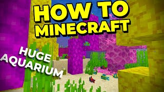 Making a GIANT Aquarium in Survival Minecraft - How to Minecraft #60