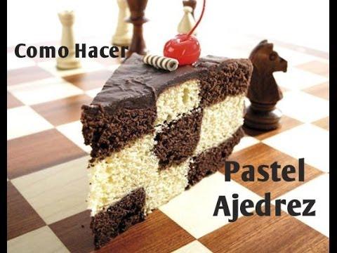 como hacer pasteles - En este video podras ver como hacer facil un pastel de ajedrez sin gastar en moldes especiales ahorrando dinero y espacio en tu cosina. Si quieres preparar p...