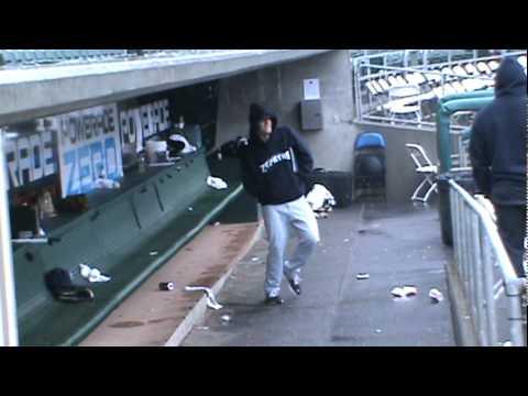Zephyr baseball player dancing in Sac.