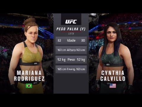 Mariana Rodríguez vs Cynthia Calvillo   UFC Washington DC Live Gameplay