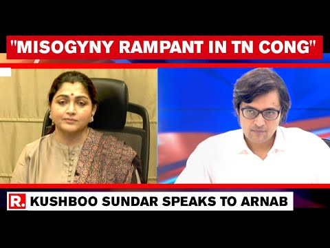 Kushboo Sundar Speaks To Arnab After Quitting Cong, Says 'They Can't Accept A Woman Giving Orders'