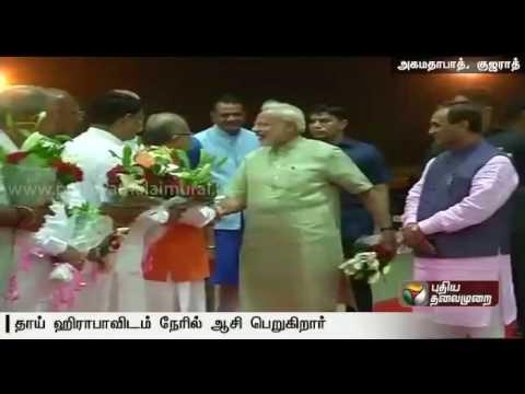 PM-Narendra-Modi-celebrates-his-66th-birthday-in-Gujarat-Meets-Mother