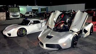 LaFerrari vs 918 Spyder - $3,000,000 Worth of Hypercars! by 1320Video