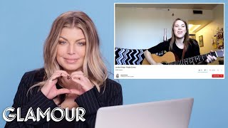 Video Fergie Watches Fan Covers on YouTube | Glamour MP3, 3GP, MP4, WEBM, AVI, FLV Maret 2019
