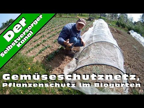 Gemüseschutznetz, Pflanzenschutz im Biogarten
