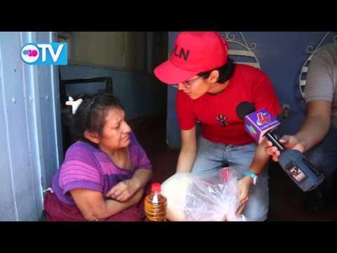 Entregan paquetes alimentarios a casos críticos del Distrito II de Managua