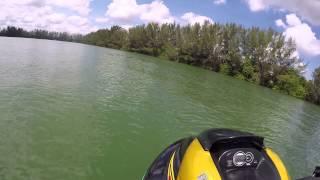 10. GPro GP1300R racing in lake with 2015 FZR