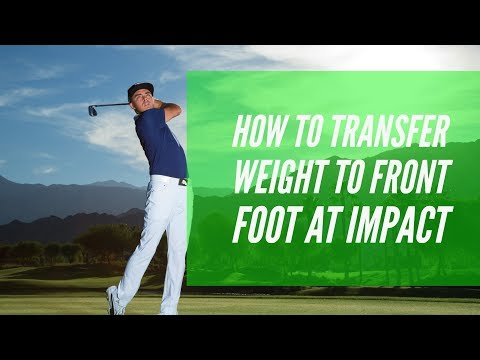 Online Golf Lessons- Learn To Shift Your Weight To Improve Your Golf Swing